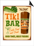 Vintage Sign Print - Tiki Bar Prints by Real Callahan