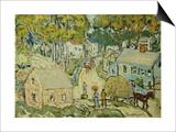 A New England Village Prints by Maurice Brazil Prendergast