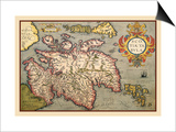 Map of Scotland Art by Abraham Ortelius