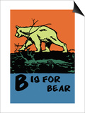 B is for Bear Prints by Charles Buckles Falls