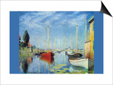 Pleasure Boats At Argenteuil Poster by Claude Monet