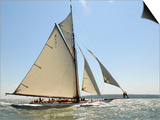 Mariquita under Sail, Solent Race, British Classic Yacht Club Regatta, Cowes Classic Week, 2008 Print by Rick Tomlinson