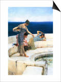 Silver Favorites Poster by Sir Lawrence Alma-Tadema