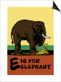 E is for Elephant Posters by Charles Buckles Falls