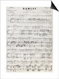 Old Reproduction Of Hamlet Score Print by  marzolino