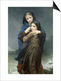 The Storm Prints by William Adolphe Bouguereau