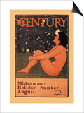 The Century: Midsummer Holiday Number, August Print by Maxfield Parrish