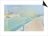 The Channel at Gravelines, Petit Fort Philippe Prints by Georges Seurat