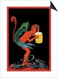 Biere au Diable Plakat af Eugene Oge