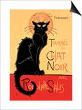 Tournee du Chat Noir Avec Rodolptte Salis Posters av Théophile Alexandre Steinlen