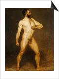 A Male Nude Print by Hans Von Staschiripka Canon