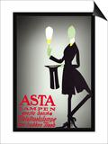 Asta Lampen Print by Valdemar Andersen