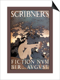 Scribner's Fiction, August 1897 Posters by Maxfield Parrish