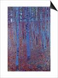 Beech Forest Poster von Gustav Klimt