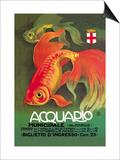 Acquario Poster von Leopoldo Metlicovitz