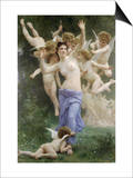 The Wasps Nest Print by William Adolphe Bouguereau