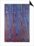 Beech Forest Print by Gustav Klimt