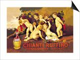 Chianti Ruffino Cherub Angels Kunstdruck von Leopoldo Metlicovitz
