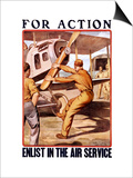 For Action, Enlist in the Air Service Art by Otho Cushing