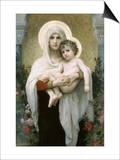 Madonna of the Roses Art by William Adolphe Bouguereau