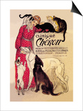 Clinique Cheron, Veterinary Medicine and Hotel Affiches par Théophile Alexandre Steinlen