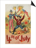 4th Of July Postcard Prints