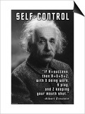 Self-Control, Einstein Posters