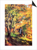 Jules Le Coeur and His Dogs Poster by Pierre-Auguste Renoir
