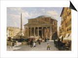 The Pantheon, Rome Prints by Veronika Mario Herwegen-manini