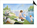 Bathing at Asnieres Posters by Georges Seurat