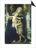 Virgin Mary and Jesus Poster by William Adolphe Bouguereau