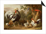 Poultry and Other Birds in the Garden of a Mansion Prints by Jacob Bogdany