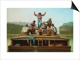 Jolly Flatboatmen Art by George Caleb Bingham