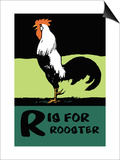 R is for Rooster Art by Charles Buckles Falls