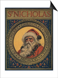Illustration Of Santa Claus Portrait Posters by Norman Price