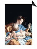 Madonna with Sleeping Christ Child Posters af Artemisia Gentileschi