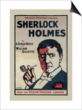 Sherlock Holmes: The Lyceum Theatre, London Posters by John Stewart Browne