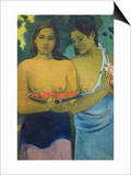 Two Tahitian Women Prints by Paul Gauguin
