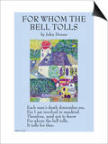 For Whom the Bell Tolls Prints by John Donne