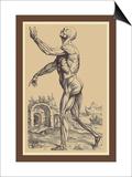 The Second Plate of the Muscles Kunstdrucke von Andreas Vesalius
