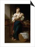 Premiers Caresses Prints by William Adolphe Bouguereau