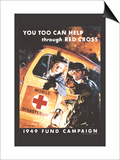 You Too Can Help Through Red Cross Prints by Jes Schlaikjer