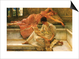 A Favorite Poet Posters by Sir Lawrence Alma-Tadema