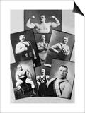 Seven Bodybuilding Champions Print