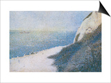 The Cliffs Overlooking the Bay of Honfleur Prints by Georges Seurat