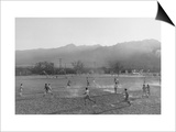 Football Practice Art by Ansel Adams