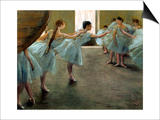 Dancer at Rehearsal Prints by Edgar Degas
