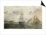 New York Bay, Castle Clinton, circa 1875 Art by James Abbott McNeill Whistler