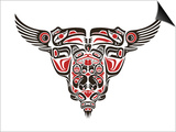 Haida Style Tattoo Design Created With Animal Images Art by  Arty