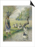 The Goose Girl (The Duck Pond), circa 1890 Posters par Camille Pissarro